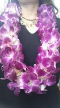 Traditional purple orchid lei