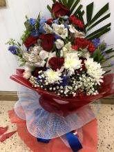 Patriotic wrapped bouquet