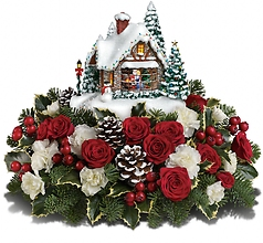 Thomas Kinkade A kiss for Santa