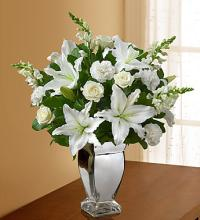 Expression of Sympathy White Arrangement