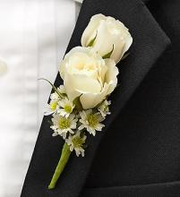 All White Ring Bearer Boutonni?re