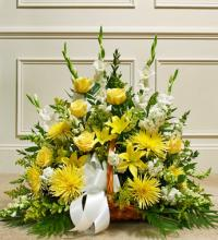 Thoughts and Prayers Fireside Basket - Yellow
