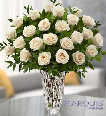 Marquis by Waterford® White Roses for Sympathy